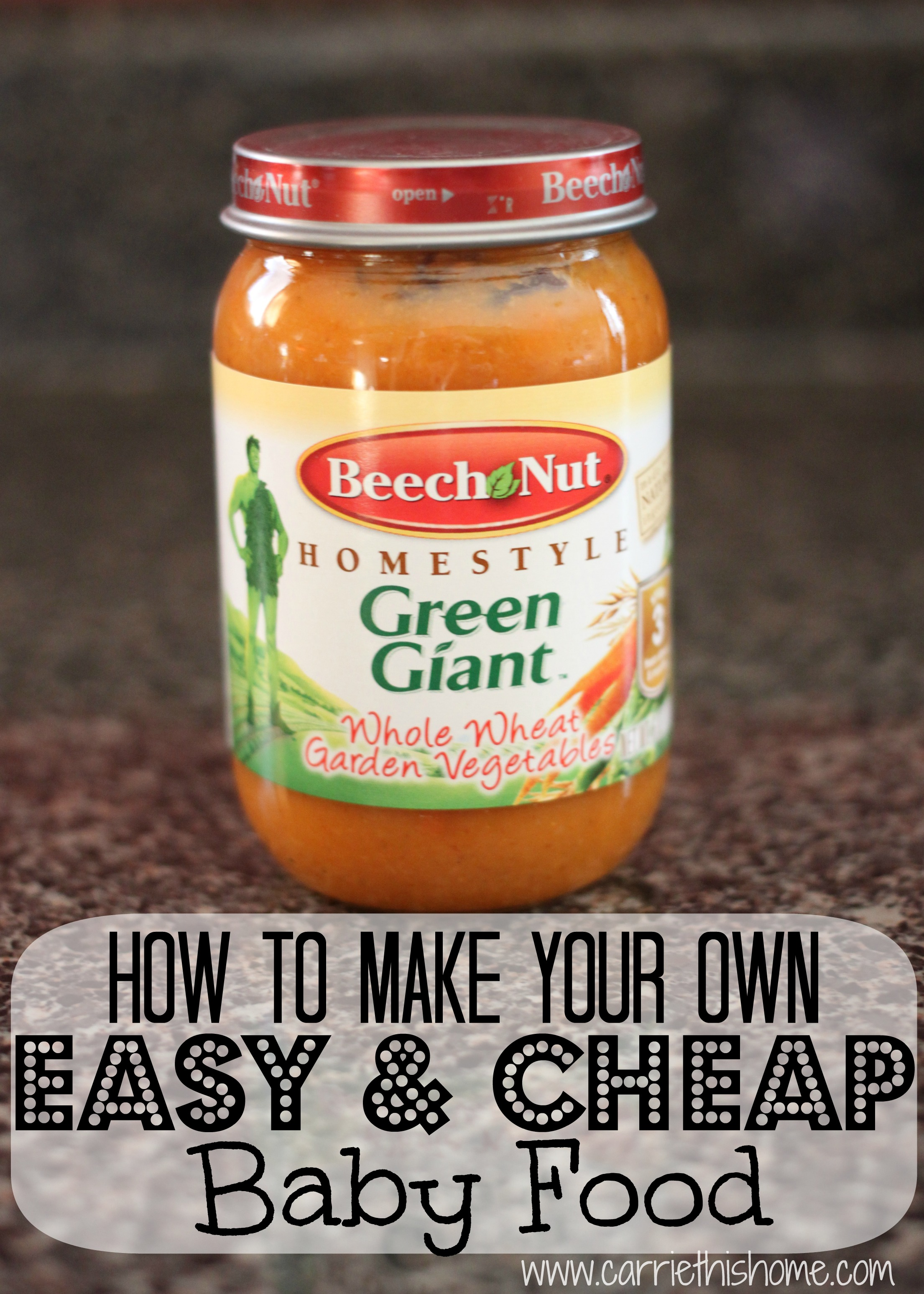 How To Make Baby Food–The Easy and Cheap Way