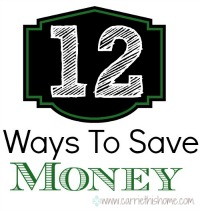 12 Ways To Save Money