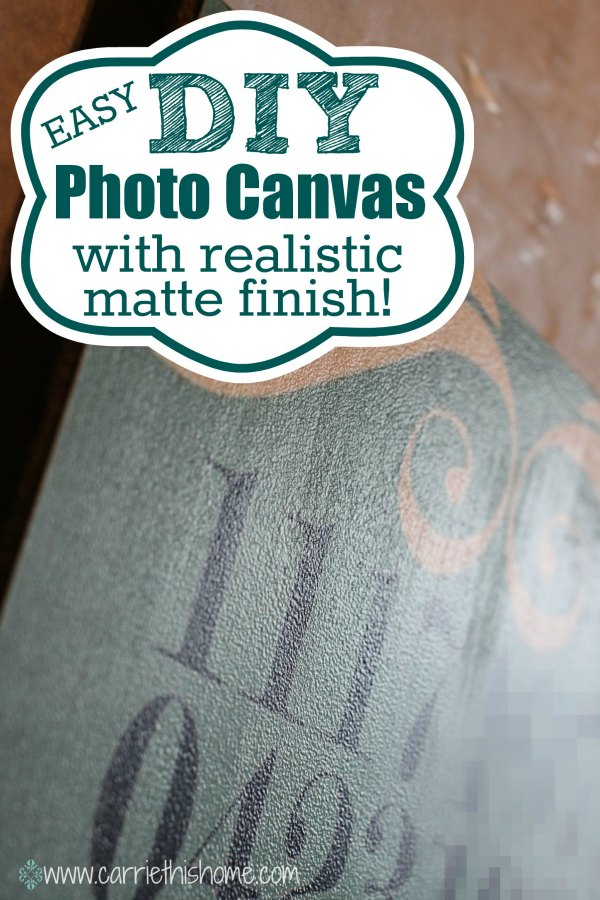 Easy DIY Photo Canvas