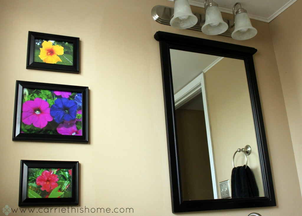 Decorating with pictures in the bathroom 2