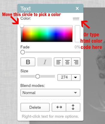 how to change color in picmonkey