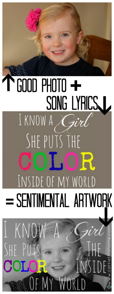 How to put song lyrics over a photo. Easy step-by-step tutorial!