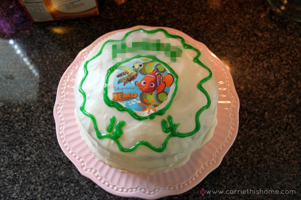 nemo cake template - nemo birthday party