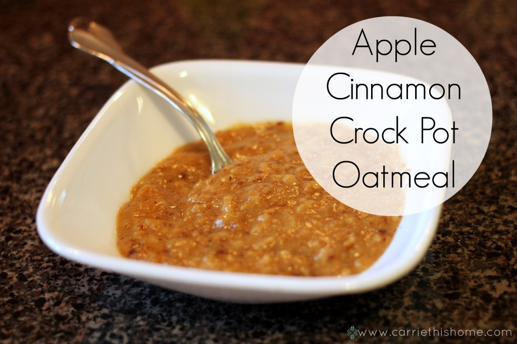 originally saw a recipe for overnight crockpot oatmeal at Turnips 2 ...