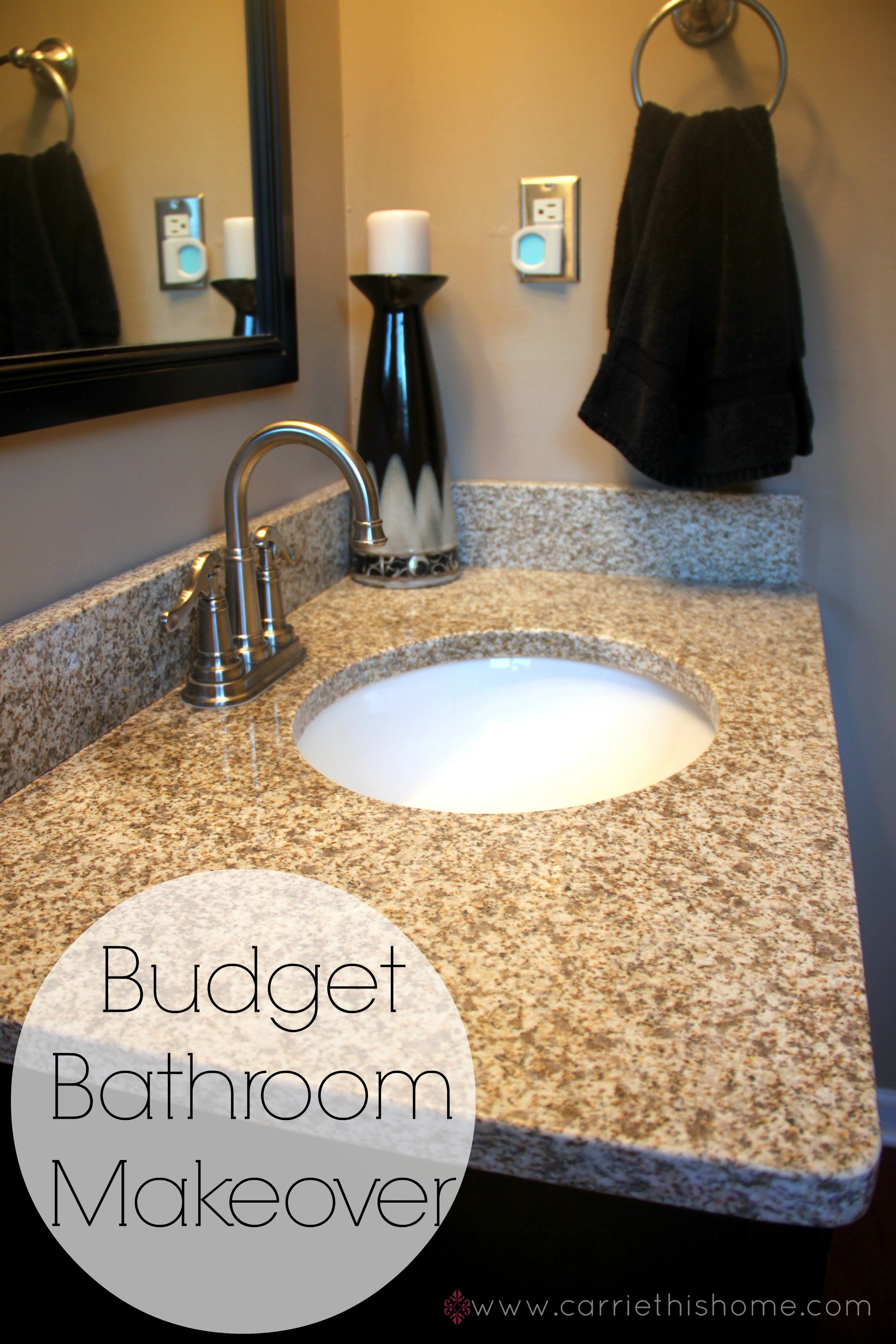 Budget bathroom makeover for Master bathroom on a budget