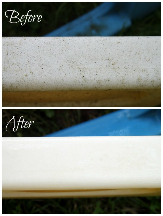 How to clean outdoor toys--before and after!