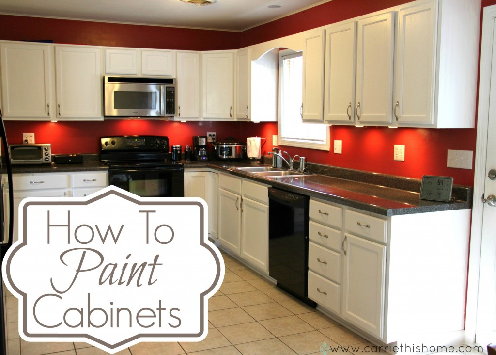 How to paint cabinets for Repainting white kitchen cabinets