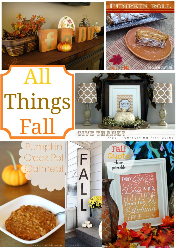 Great collection of fall printables, recipes, and crafts!
