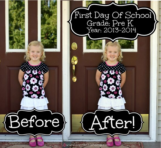 How To Make A Cute First Day Of School Picture