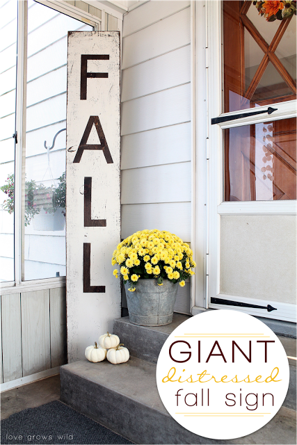 Giant Distressed Fall Sign from Love Grows Wild