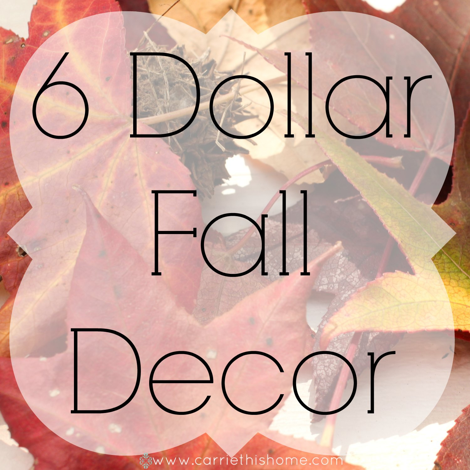 Easy Fall Decor For 6 Dollars