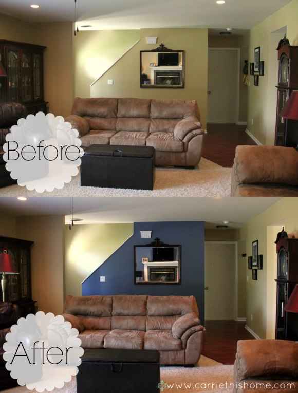 What a difference an accent wall color can make!
