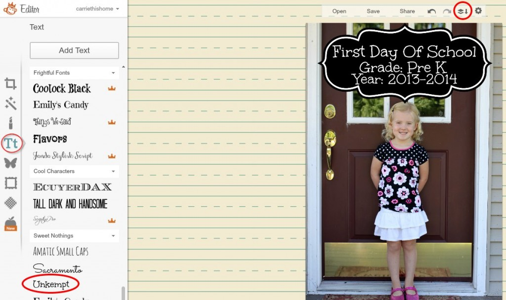 back to school picture tutorial4