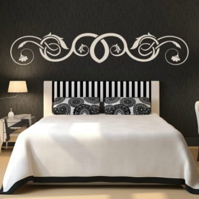 Great way to dress up a headboard with Icon Wall Stickers