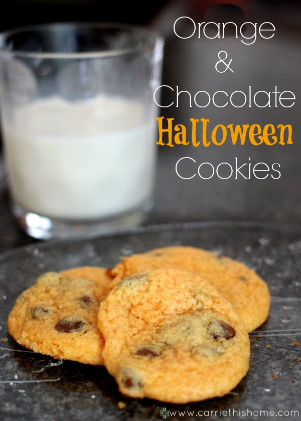 Orange and Chocolate Halloween Cookies--a must try!