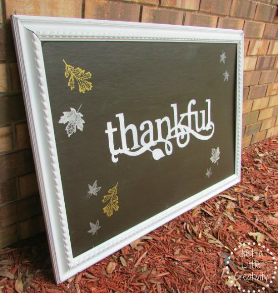 thankful painting side