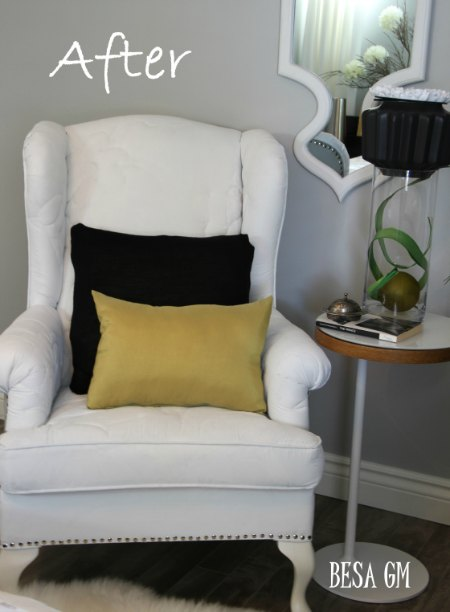 Painted Wingback Chair