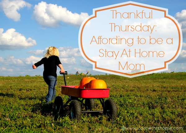 Affording to be a stay at home mom