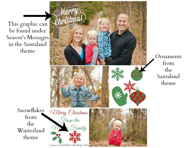 How To Add Graphics To A Christmas Card