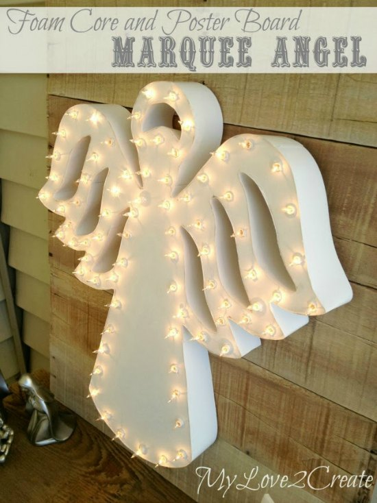 MyLove2Create, lighted angel outside
