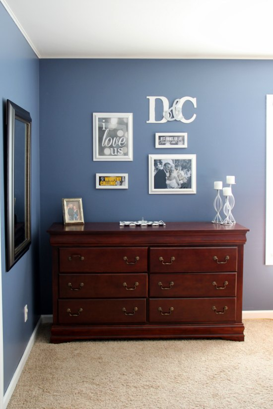 Master Bedroom Gallery Wall.  Love it!
