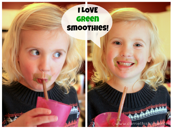 My kids LOVE this low calorie green smoothie!