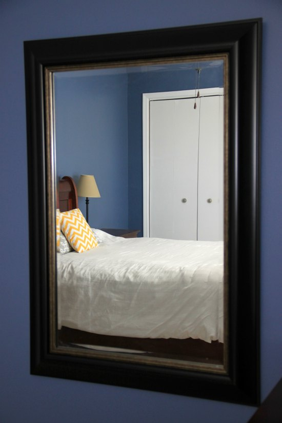 Use a big mirror to bring more light into a room!
