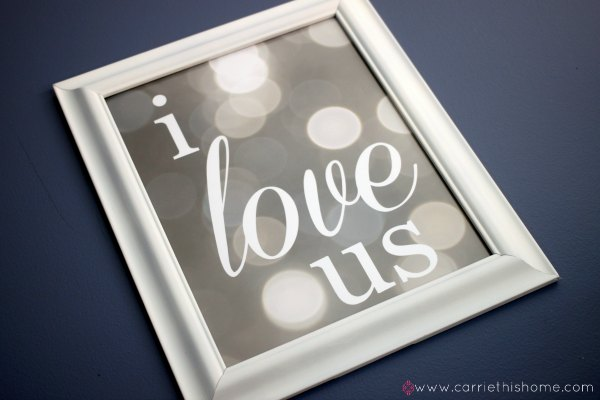 I Love Us {Free Printable}
