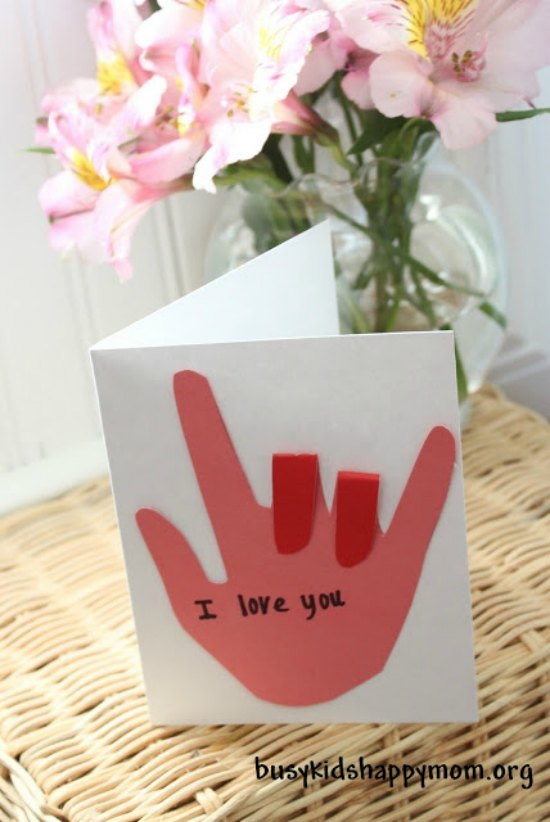 I love you sign lanugage card