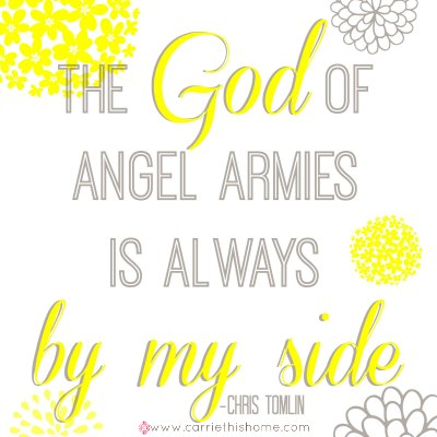 God of Angel Armies (Chris Tomlin) Free Printable!
