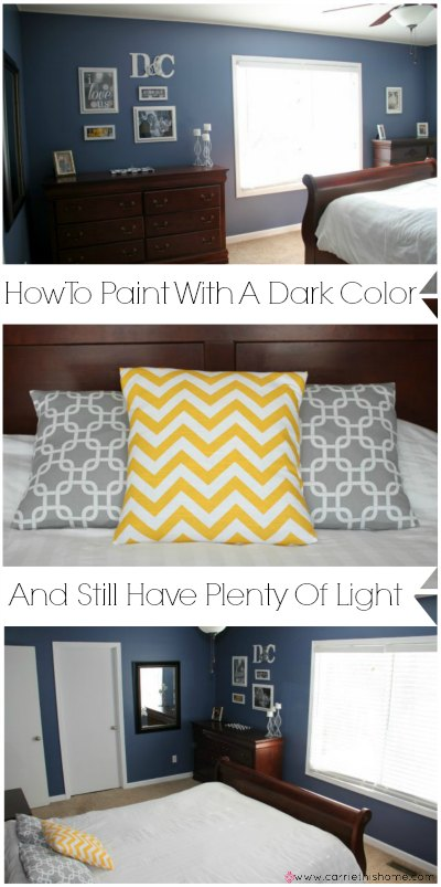 How To Paint With A Dark Color and Still Have Plenty of Light