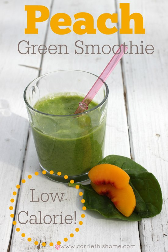 Low Calorie Green Smoothie.  Your body (and tastebuds) will thank you!  Each serving has only 132 calories.