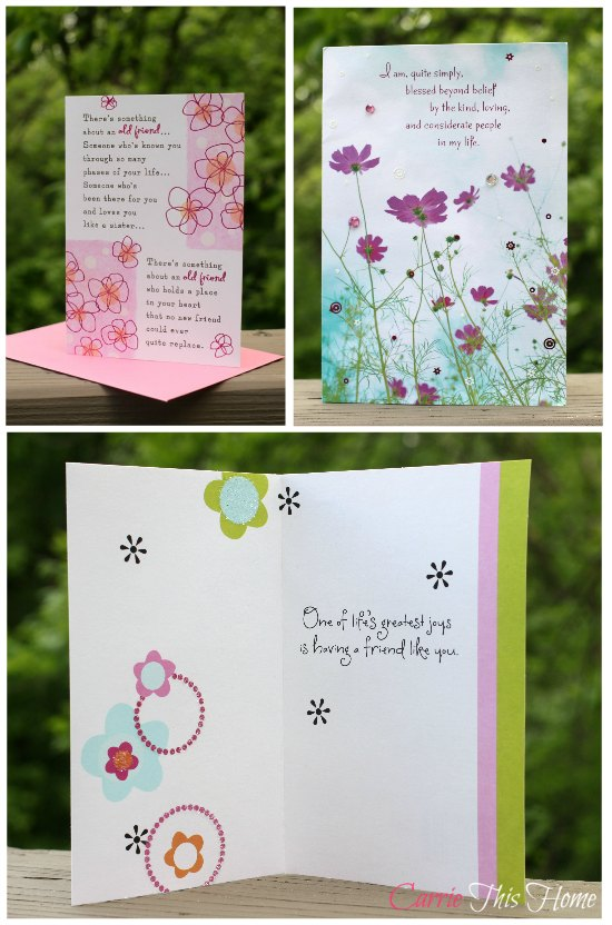 Beautiful Friendship Cards from Hallmark
