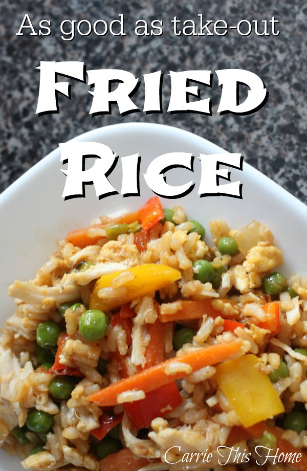 Easy Fried Rice--this stuff tastes as good as take-out!  Plus it's loaded with veggies!