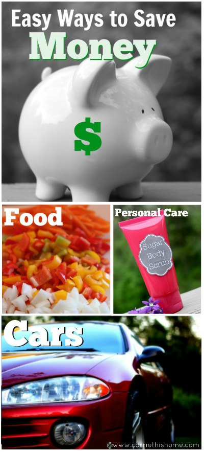 Easy Ways to save money--for every area of your life! Great tips!