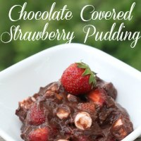 chocolate covered strawberry pudding featured