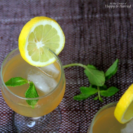 Lemon mint ginger cooler