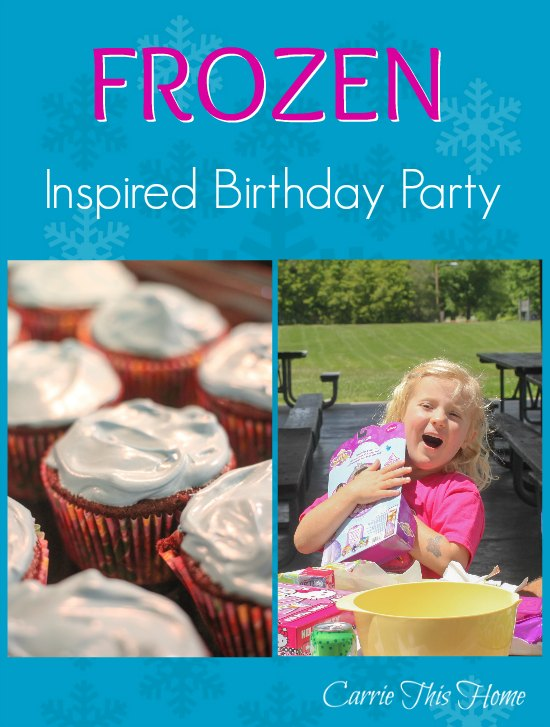 How to host a Frozen Inspired birthday party on a budget.  Great tips to make the party fun for the kids and less stressful on the hosts!