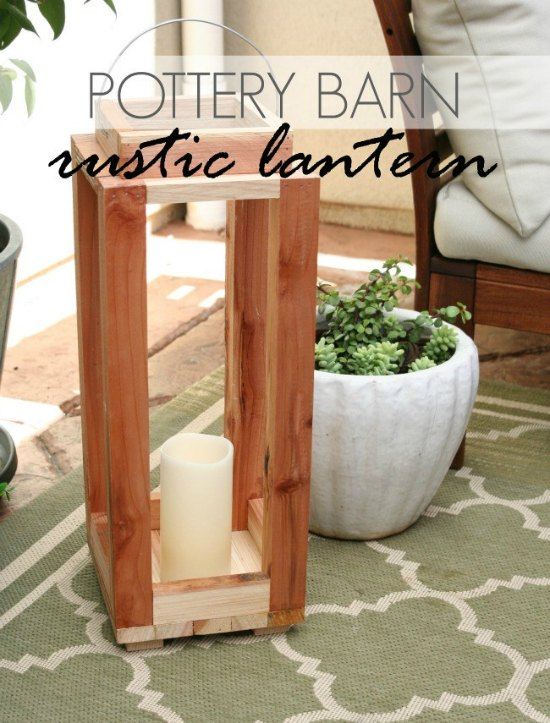 how to make a pottery barn lantern