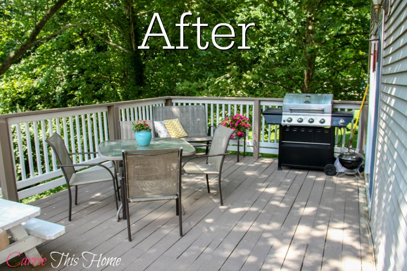 Budget Deck Makeover After. What a difference a little money & work will do!