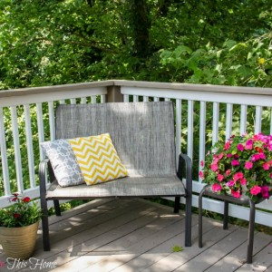 Budget Deck Makeover Reading Area