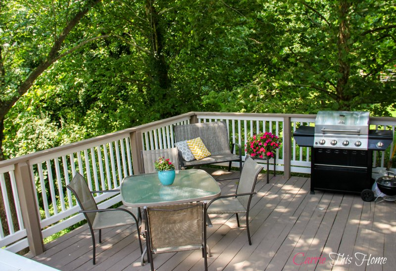 Budget Deck Makeover with Restore Deck and Concrete paint