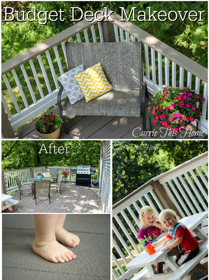 Budget Deck Makeover. How to take care of splinters and make an outdoor living room on a budget!