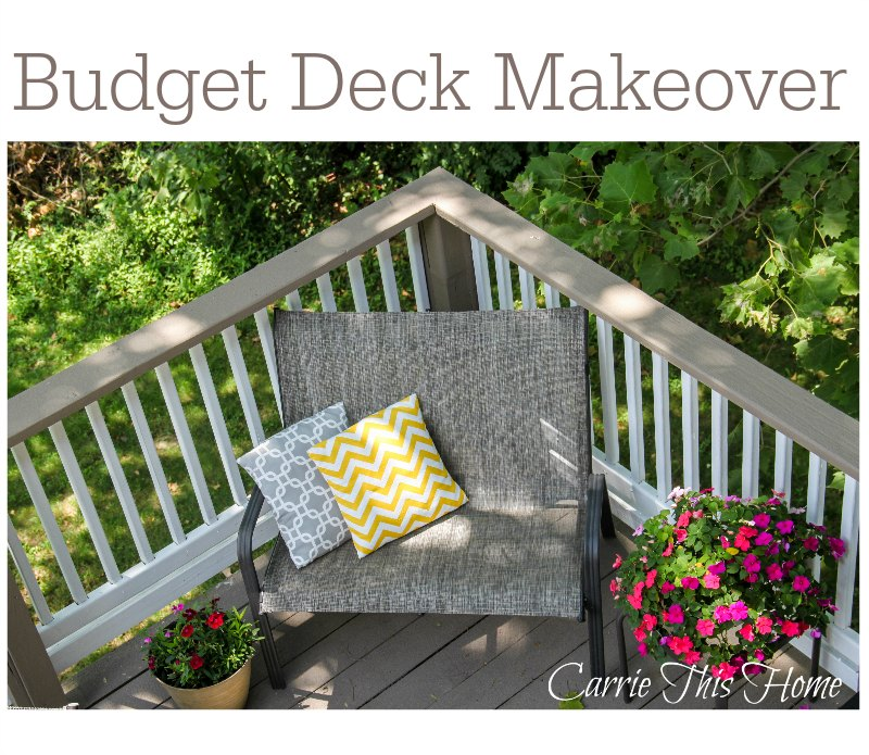 How to refinish a deck without spending a fortune! #DIY #deck
