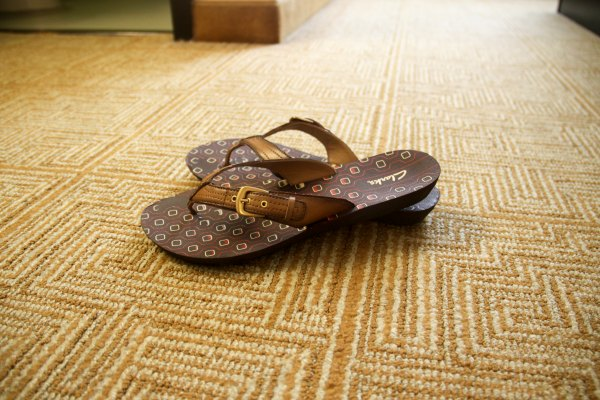 Don't walk on a dirty hotel room floor in your bare feet!  Use flip flops instead!