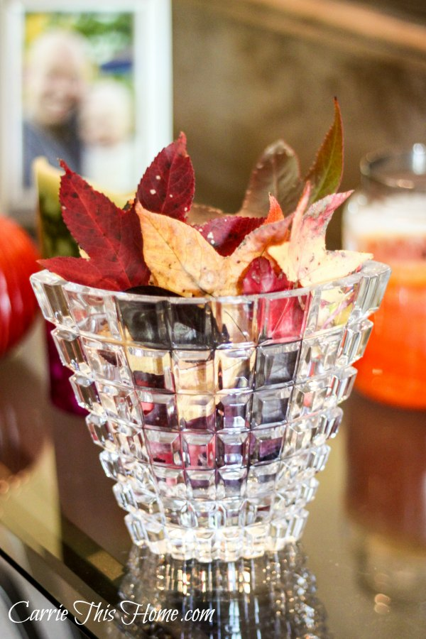 Easy ways to bring the beautiful colors of Fall indoors!