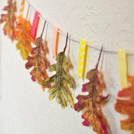 Embellished Leaf Garland