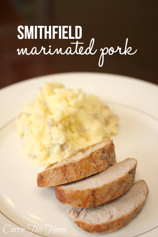 Smithfield marinated pork saves so much time since all the prep and marinating is done for you!