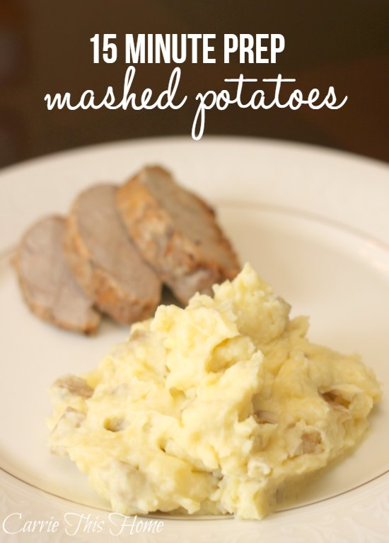Who has time to make homemade mashed potatoes--you do! A couple smart time-saving tricks will get dinner on the table in a flash!