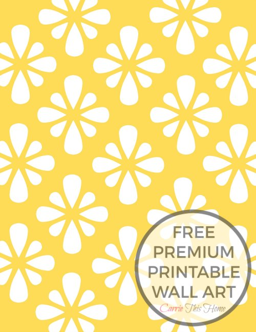 Love this mustard yellow print! This design is available in 11 colors! Get your free one today!